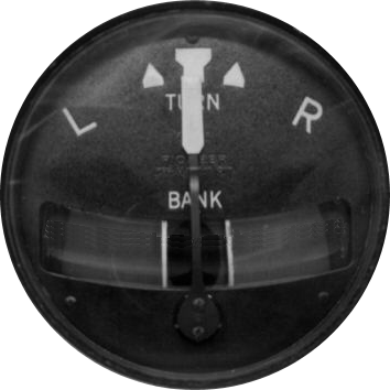 Turn and Slip Indicator, courtesy Wikipedia.