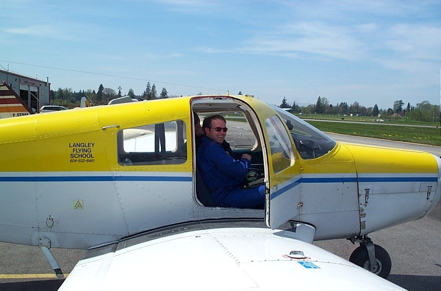 David Woollam, Langley Flying School.